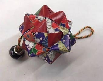 Handmade paper modular origami ball ornament decoration