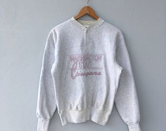 Adult Medium! Vintage 90s' ! Washington State Cougars  since 1887 Wolf tag . H.Wolf & Sons . Women/men clothing