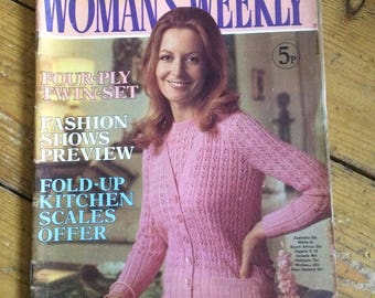 Best for Knitting - Woman's Weekly Magazine from 1973 - rare