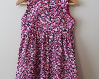 The Everyday Dress (Floral Pink Purple Red)