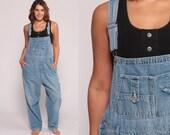 Bib Overalls 90s Denim GRUNGE Pants Baggy Dungarees Long Jean Pants 1990s Boyfriend Suspender Hipster Vintage Carpenter Extra Large xl