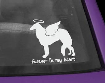 Borzoi Furever In My Heart Vinyl Sticker