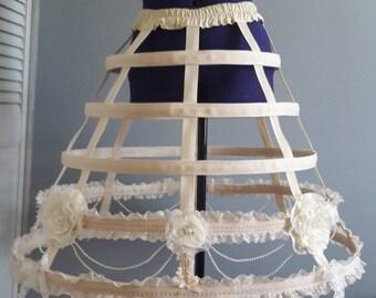 Fancy Victorian 5 hoop cage skirt