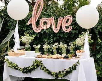 LOVE Script Balloon | Rose Gold Love Balloon | Wedding Balloon | Engagement Balloon | Rose Gold Balloon | Valentine's Love Balloon