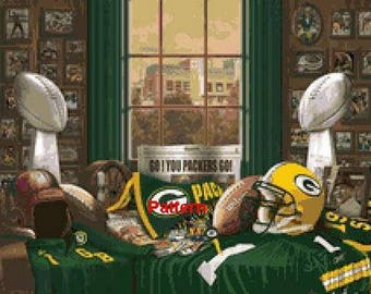 Green Bay Packers Mascot #4. Cross Stitch Pattern. PDF Files.