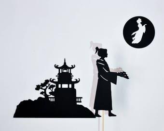 Moon Festival Legend Shadow Puppet Set for Kids