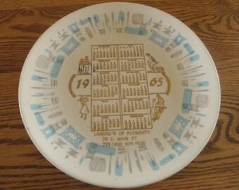 Blue Heaven Calendar Plate 1965