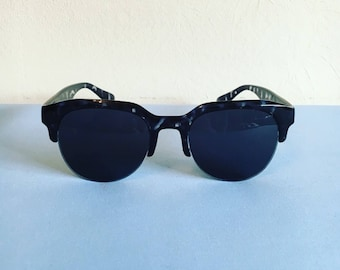 SALE Vintage 1990s black/grey clubmaster sunglasses