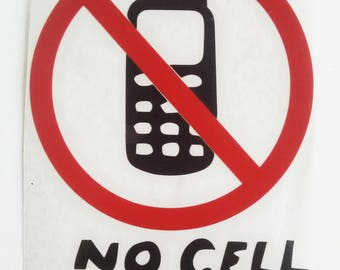 No Cell Phones - Decal - Car Decal - Luke's Diner - Gilmore Girls