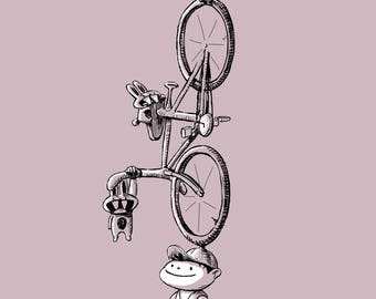 Bike Reincarnation 12x18 Art Print