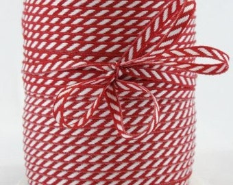 CLEARANCE Solid/Diagonal Striped Ribbon - Red and White - 3 yd bundle