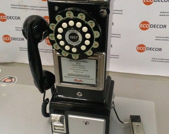 Old school phone with lock (+coin)