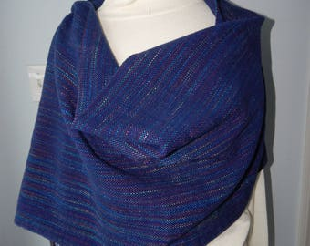 Hand Woven Merino Wool and Silk Shawl