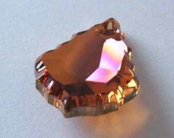1 SWAROVSKI 6091 Flat Baroque Pendant Crystal COPPER
