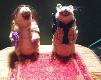 The Dude and Walter taxidermy mice