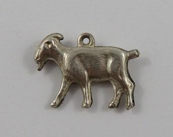 Billy Goat Silver Vintage Charm For Bracelet