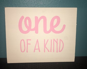 Pink 15x15 One of a Kind Wooden Sign