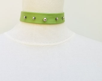 Lime Green Ball Choker