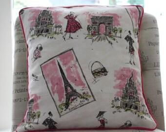 Tres Chic Paris Pillow Cover Retro Paris Pillow Cover