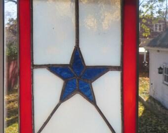 Blue star mom banner single star