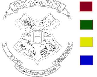 Hogwarts Crest (you pick color)