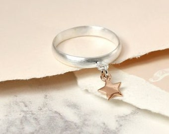 Thea * Stacking Ring * Sterling Silver * Rose Gold * Stacking Jewelry * Star Ring * Stacking Ring * Stacking Jewelry * Star Jewelry