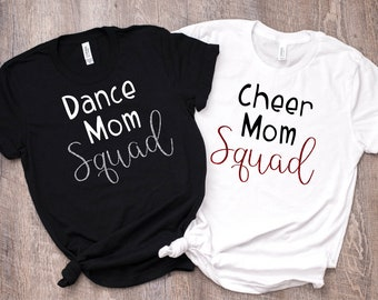 Mom Squad Bella Short Sleeve Tee!  Dance Mom Cheer Mom Sports Mom Tee Mix and Match Colors, Team Color T Shirt Mother's Day Gift Squad Shirt
