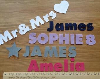 Felt Letters & Numbers,Upper and Lowercase, 3cm Chunky Font, Quality UK Felt