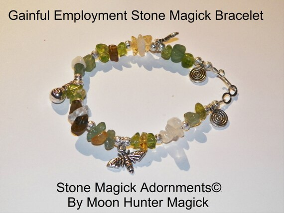 Stone Magick Gainful Employment Get A Job Crystal Healing Charm Reiki Pagan