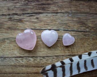 Rose Quartz Heart Puff Gemstone, Polished Crystal Stone, Small Crystals Specimen - #07CR-02-001