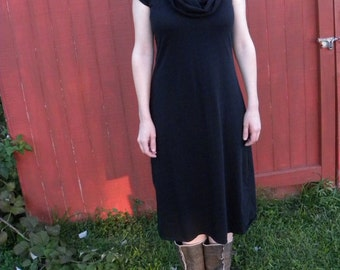 Womens Jersey Knit Cotton Short Sleeve or long sleeve Dress -Made to Order -Made in the USA -Firefly