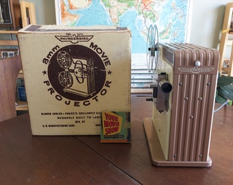 RARE Thunderbird 8mm Projector - Cool Deco Graphics - Working Condition - Made in Brooklyn