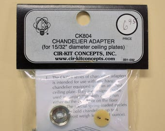 "12V plug in chandelier adapter for 15/32"" ceiling plate, Cirkit Concepts, lighting for dollhouses or other 12 volt model, use with tape wire"