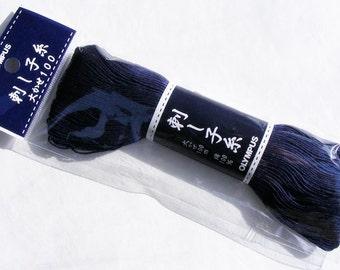 Olympus #103 Japanese sashiko thread indigo navy blue 100 meter skien