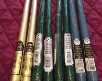 Taper Candles – Various Colors and Quantities