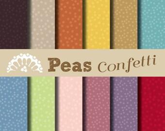 Digital paper Confetti peas