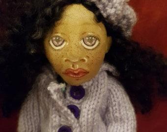 OOAK 9 Inch Cloth Doll