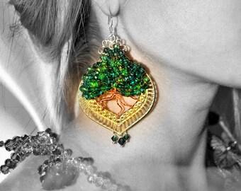 Eleganti orecchini Albero di Ulivo simbolo Mediterraneo