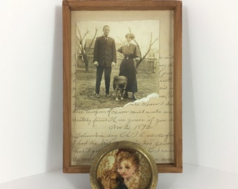 To All the Dogs I've Loved Before, Assemblage Art, Mixed Media Art