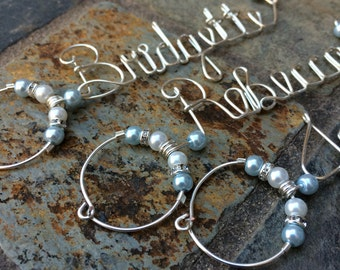 Personalized Bridesmaid Gift Idea - Personalized Wine Charms - Girls Night Ladies Night Bachelorette Party Favors Under 20