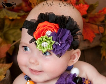 Halloween Headband, Baby Headband,Baby Headbands,baby girl headband,Halloween baby headband,Flower Headband,Baby Hair Bows, Halloween Bow.