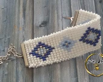 WHITE Loom beaded bracelet, Fantasy BRACELET loom beads braclet