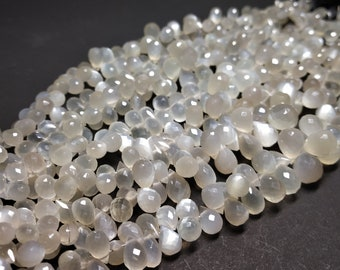 Natural Siloni Moonstone Faceted Cut Side  Drops Width :- 4x6, 5x7 mm in graduation (approx.) Length 8 inch