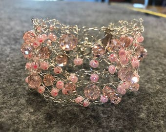 Pretty in Pink Cuff Bracelet