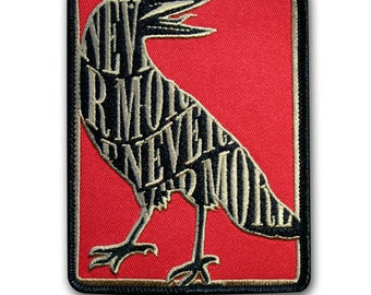 Nevermore: Embroidered Patch