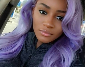 Beautiful pastel color lace front wigs