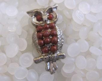 vintage owl pin
