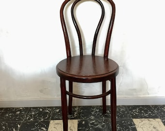 Bistro Chair wood turned dark brown
