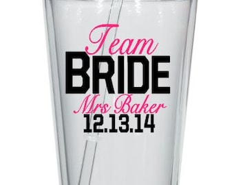 Team Bride Decals, Wedding Party Tumbler Decals, Custom Wedding Tumblers, Personalized Single DIY,Cups NOT Included