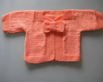 Cardigan with Bow